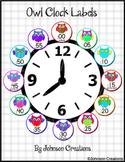 Owl Clock Labels