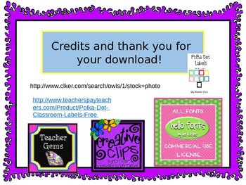 Owl Color Cards Flash Cards and Printable