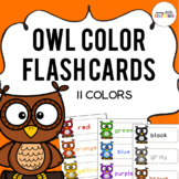Owl Color Flash Cards