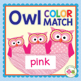 Color Match & Size Sorting Owls