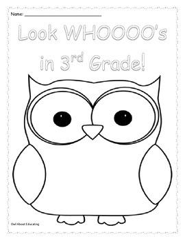 Owl Color Sheet