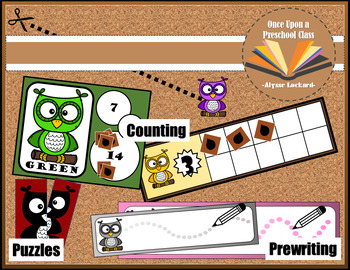 Owl COLOR Unit- Complete with Reading, Writing, and Math Activities