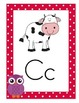 Owl & Colorful Polka Dots Alphabet Posters With Pictures