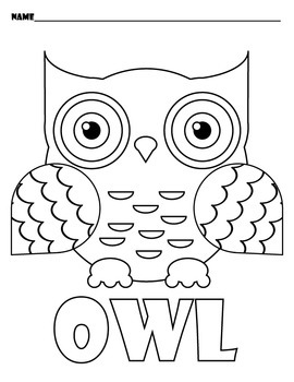 Owl Coloring Sheets