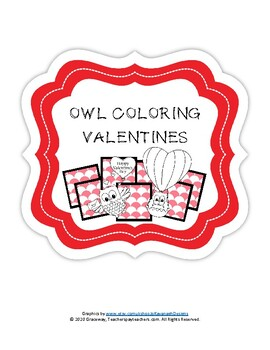 Owl Coloring Valentines