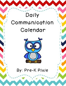 Owl Communication Calendar