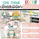 Owl - Complete Classroom Decor BUNDLE