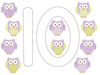 Owl Counting 1-10 Play Dough Mats