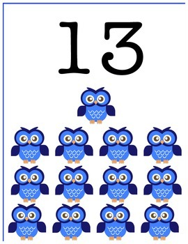 Owl Counting Cards #1-15