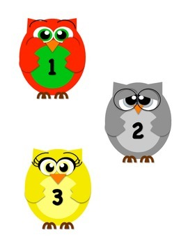 Owl Counting Poster & Die Cuts
