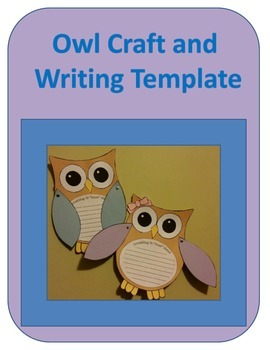 Owl Craft and Writing Template
