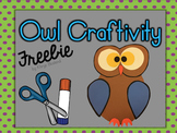 Owl Craftivity Freebie