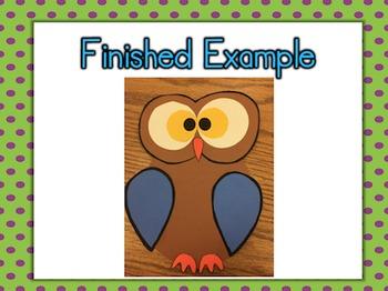 Owl Craftivity Freebie