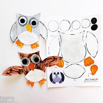 Owl Craftivity Template