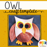 Owl Craftivity Template