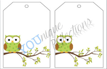 Owl Cubby Name Tags