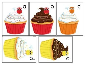 Owl Cupcake Alphabet Cards