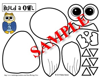 Owl Cut Out and Paste