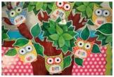 Classroom Decor Owl Cut Outs