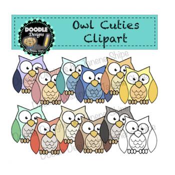 Owl Cuties Clipart