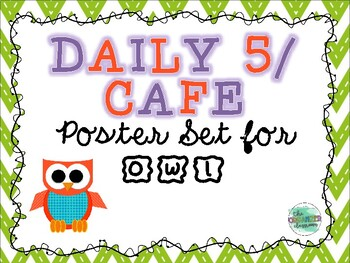 Owl Daily 5/CAFE Poster Set