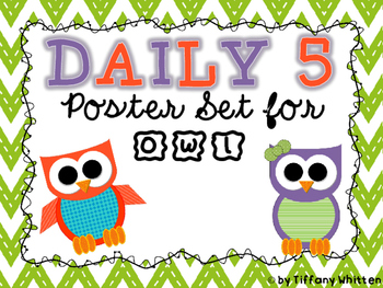 Owl Daily 5 Poster Set