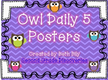 Owl Daily 5 Posters