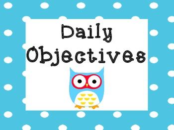 Owl Objectives Board