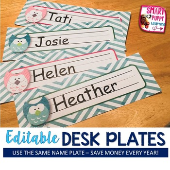 Nameplates Owl *EDITABLE VERSION*