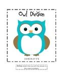 Owl Division File Folder Game (5's)