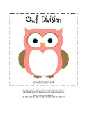Owl Division File Folder Game (6's)