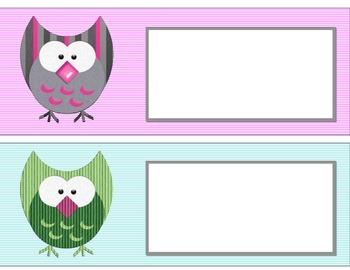 """Owl"" Do My Part Bulletin Board Set. Owl Job Board Name Labels"