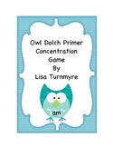Owl Dolch Primer Concentration Game
