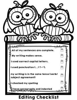 Owl Editing Checklist