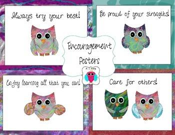 Owl Encouragement Posters