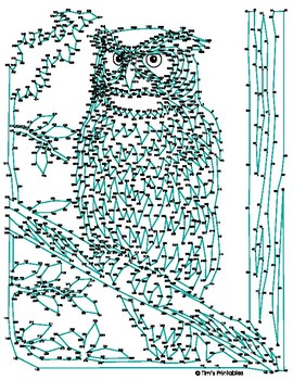 Owl Extreme Dot-to-Dot / Connect the Dot PDF