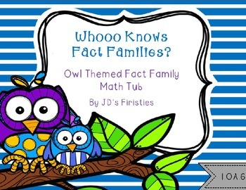 Fact Family Owls