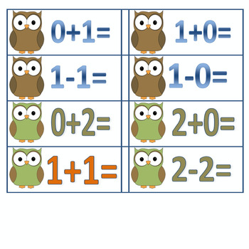 Owl Facts Addition/Subtraction 0-13