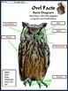 Halloween Activities: Owl Facts Halloween Science Activity 2nd-3rd Grade -Color