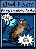 Halloween Activities: Owl Facts Halloween Science Activity
