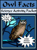Halloween Activities: Owl Facts Halloween Science Activity Packet