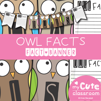 Owl Facts Banner {Bunting, Garland, Pennant Display}
