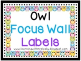 Owl Focus Wall Labels