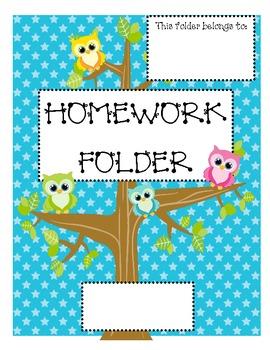 Owl Folder Cover Sheets