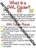 Owl Folder Rules & Information
