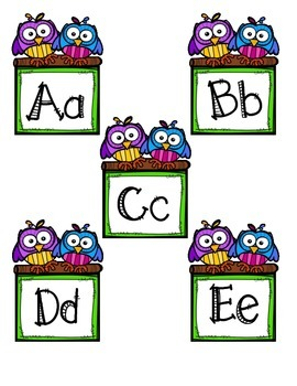 Owl Frame Word Wall