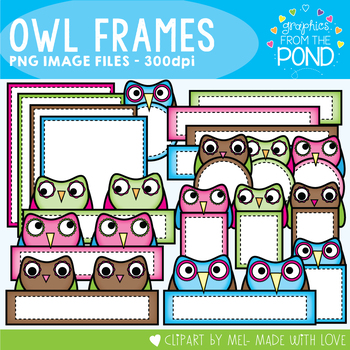 Owl Frames Clipart - Graphics From the Pond
