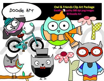 Owl & Friends Clipart Pack