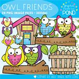 Owl Friends Clipart Set