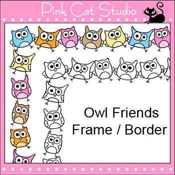 Borders Clip Art - Owl Theme Page Frames